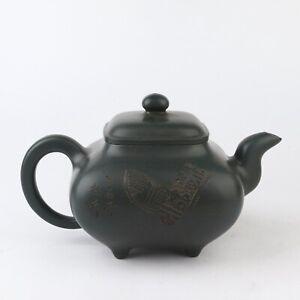 Antique Chinese Yixing Green Clay Zisha Teapot