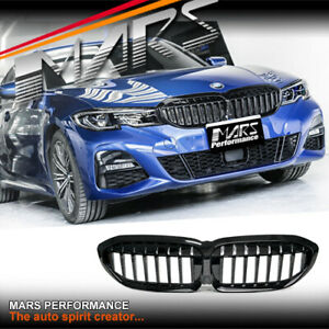 Gloss Black Front Bumper Bar Grill Grille for BMW 3-Series G20 G21 & M Sport