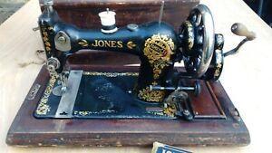Vintage Jones Family Sewing Machine Hand Cranked