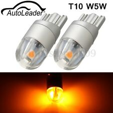 2X T10 2SMD 3030 W5W 194 168 LED Reading License Plate Light Side Lamp DRL Amber