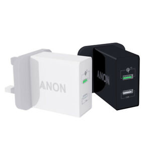 GENUINE ANON MAINS FAST CHARGER PLUG USB UK FOR GOOGLE PIXEL 2 3 XL