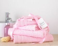 8pc Towel Bale Set Baby Pink 100 Egyptian Cotton Face Hand Bath Bathroom Towels