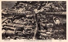 Middlesex - STAINES, Aerial View of High St, London Rd - Real Photo by Aerofilms