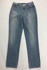 Persona jeans 21 tg 50 w36 blu azzurri mom jeans vita alta carota usato donna