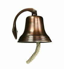 "Aluminum Antique Copper Finish Ship's Bell 7"" Nautical Hanging Wall Decor New"