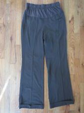 Gap Maternity Brown Striped Pants Straight Leg Trousers Work Wear Size 4 VGUC
