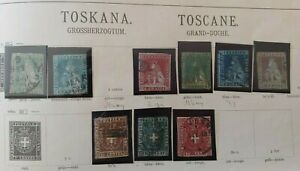 1849-1860 COLLECTION TOSCANO TOSCANE VF USED ITALY ITALIA BKCL $0.99