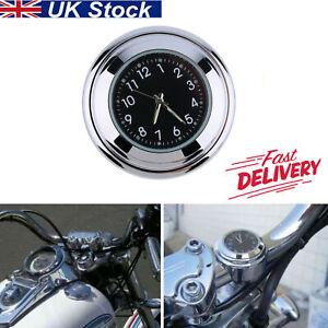 Waterproof Motorcycle Motorbike Handlebar Mount Round Dial Clock Part UK STOCK