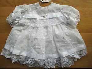 New  White dress by Frillies  in broderie anglaise lace and ribbons  6-12 months