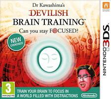 Dr Kawashima's Devilish Brain Training: Can you stay focused (Nintendo 3DS) [New