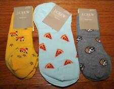 4 Pair NWT J Crew Womens Crew Length Trouser Socks Dogs Lions Tigers Lurex *V1
