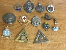 More details for collection of ww1 /ww11 sweetheart brooches and associated badge top row silver