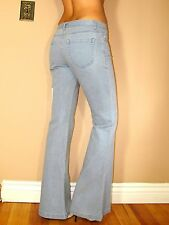 Theory Flare Light Vintg Blue Mid-rise Trousers Jeans 100 Cotton 6 X-long