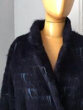 Samuji alpaca and wool long winter coat -  amazing blue Italian fabric 40 $1100