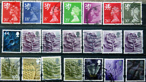 A Fine Collection Of Used GB High Value Regional Definitives.