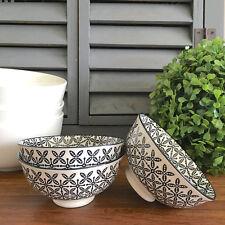 Small Monochrome Bowl/Black & White Ceramic Trinket Dish/For Keys/Jewellery Tray