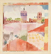 Paul Klee Reproduction: Hammamet with its Mosque (Tunis) - Fine Art Print