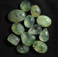 Loose Gem Stone 148.20 Ct 100% Natural African Green Prehnite 12 Pcs Cabochon