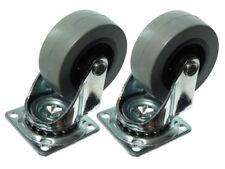50mm Plaque Fixe Simple Roulette Chariot Roue Résistant Pivotant 24 Roulettes