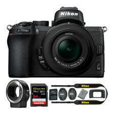 Nikon Z 50 Mirrorless Camera with Z 16-50mm Lens, Mount Adapter, 64GB Card + Kit