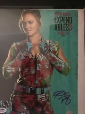 Ronda Rousey signed expendables photo PSA/DNA COA