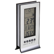 Thermomètre Hygromètre Station Météo Sans fil Horloge Réveil Alarme Température