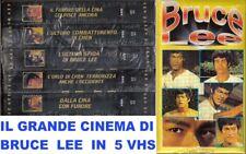 I GRANDI FILM DI ARTI MARZIALI DI BRUCE LEE, IN COFANETTO DA 5 VIDEOCASSETTE VHS