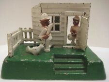 Parts of Unusual Cast Iron Toy Mechanical Bank Cop & Robber  as is