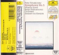 TCHAIKOVSKY SYMPHONY NO. 5 Berlin Philharmonic  - Cassette - Tape   SirH70