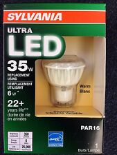 12 Sylvania 79118 Led6Par16Gu10Dim830Fl36G3Rp 6W Ultra LED  GU10 Bulb Dimmable