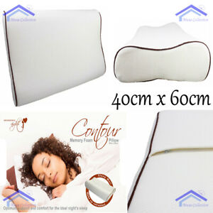 Large Contour Memory Foam Pillow Orthopaedic Optimal Comfort Head Neck Support
