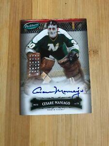 2006/07 Parkhurst Auto Autograph #70 Cesare Maniago Minnesota North Stars Hockey