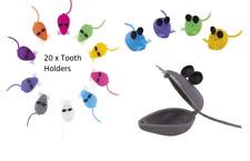 20 x Mini Plastic Baby Mouse Dental Teeth Tooth Holder Organizer Box Kids Usa