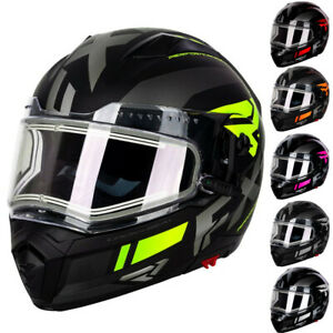 FXR Racing F20 Maverick Modular Electric Shield Mens Winter Snowmobile Helmets