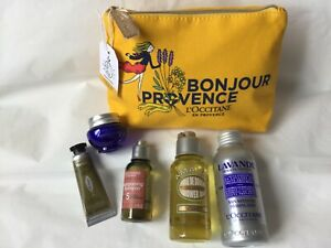 L'OCCITANE GIFT SET,LAVENDER, AMANDE SHOWER OIL,IMMORTELLE CREAM,HAND CREAM,B