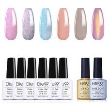 Elite99 Esmaltes en Gel de Uñas UV LED 6 Colores con Base y Top Coat Kit 10ML