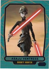 Star Wars Galactic Files Serie 2 blau Parallel #587 Asajj Ventress 239/350