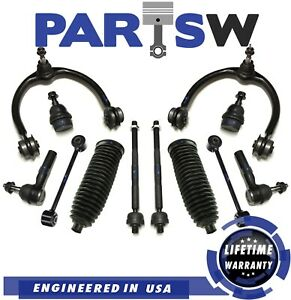 12 Pc Front Upper Control Arm Suspension Kit for Jeep Grand Cherokee Commander