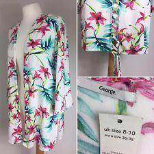 BNWT George Bright Bold Kimono Size 8-10 Summer Beach Cover Up Cardigan Kaftan
