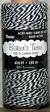 410 feet ~ 2 ply Baker's Twine ~  BLACK & WHITE ~ Gift Wrap Supply