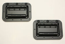 Black Recessed Handles ATA Flight Case Pair (2) Spring Loaded