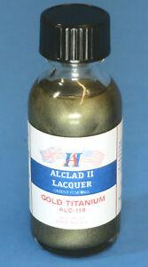 Alclad ALC118 Gold Titanium Lacquer Paint 1oz