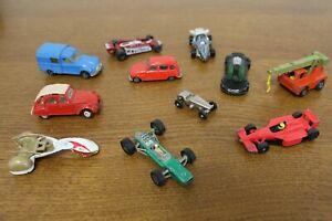 Lot voitures miniatures Acadiane Majorette,Renault 4 Norev,Grue Superfast, ...