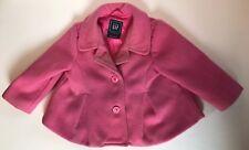 Baby Gap Toddler Jacket Girls Size 12 - 18 Months Pleated Coat Pink Winter Wear