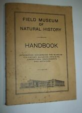 """""""Field Museum of Natural History"""" Handbook (1942) 11th Edition, Chicago US"""