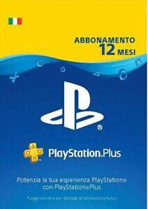 PLAYSTATION PLUS Abbonamento 12 MESI CONSEGNA IMMEDIATA 24/7 (Leggi Descrizione)