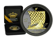 1 OZ Silber Noble 2018 Isle of Man Gold Black Empire Edition