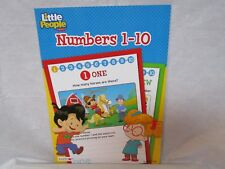 Fisher Price Workbook Numbers 1-10 Featuring Little People Homeschool Daycare