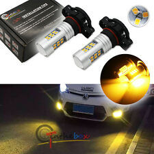 2X Gold Yellow 3000K 21-SMD 5202 2504 H16 LED Bulbs For Fog Lights Driving Lamps
