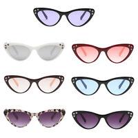 Fashion Rhinestone Cat Eye Sunglasses Womens Vintage Shades Plastic Frame